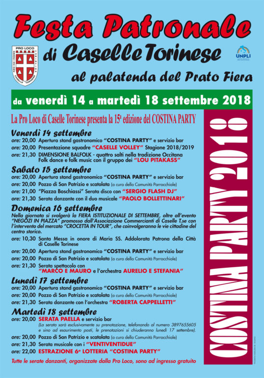 Locandina Costina Party 2018